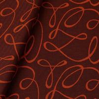 Tecido jacquard  riscado - laranja/marrom - Impermeável - Coleção Panamá