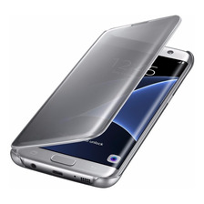 Funda Clear View Flip Cover Samsung J7 Prime 2017 Standing