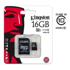 Memoria Micro Sd Hc 16 Gb Kingston Clase 10 Powerzon