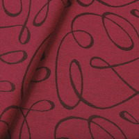 Tecido jacquard  riscado - cereja/marrom -  Impermeável - Coleção Panamá