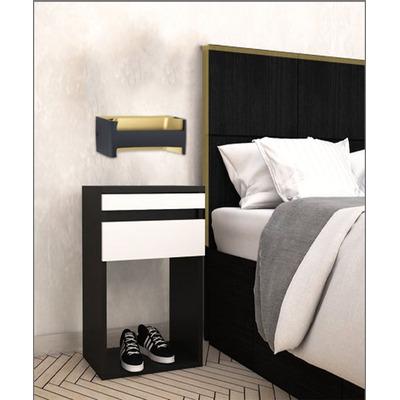 Aplique Pared Feloniche Led Negro-oro Aluminio Moderno Eglo