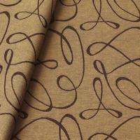 Tecido jacquard  riscado - marrom/caqui - Impermeável - Coleção Panamá