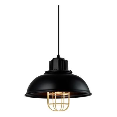 Colgante Dresher 1 Luz Negro Y Oro Apto Led Deco Moderno Cie