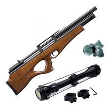 Rifle Aire Comprimido Fox Pcp P10 Bullpup Regulado Mira Zoom