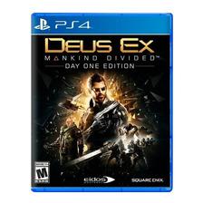 Deus Ex Mankind Divided Ps4 Fisico Original Sellado Nuevo