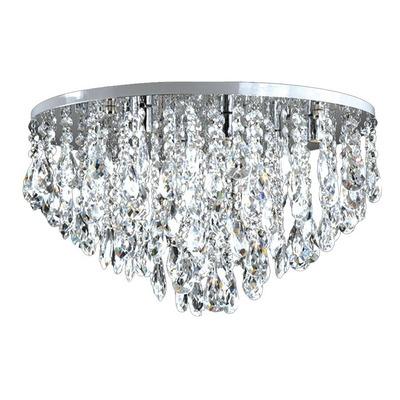 Plafon Colgante Nina Cairel Cristal 6 Luces Led Incluidas
