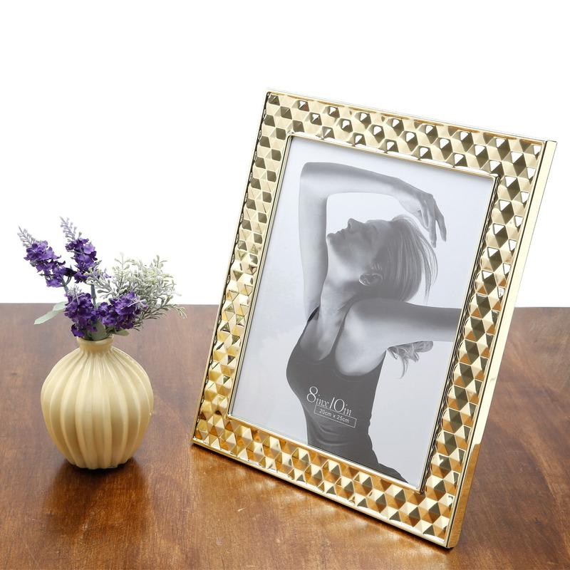 Porta Retrato de Aco Dourado 13X 18 Cm