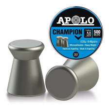 Balines Apolo Champion 4.5 X500 Rifle Aire Comprimido - Swat