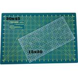 Base de Corte PREMIER 30x45 + Régua à Laser 15x30.