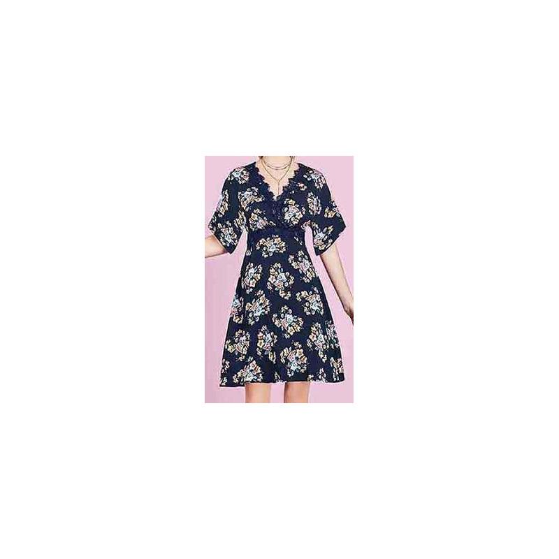 Vestido marino multicolor estampado 015167