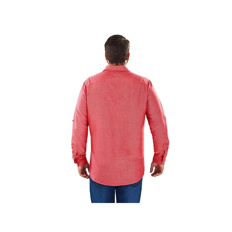 Camisa roja con botonadura  014619