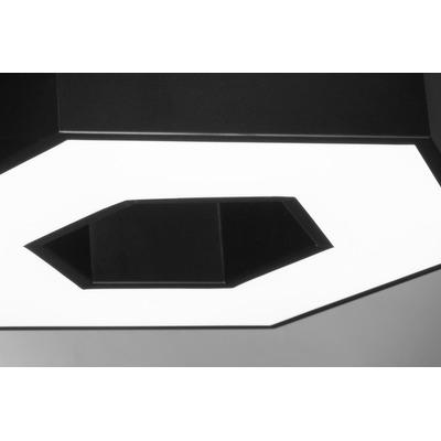 Colgante Led Deco Moderno 30w Kirie Negro Hexagono Lk