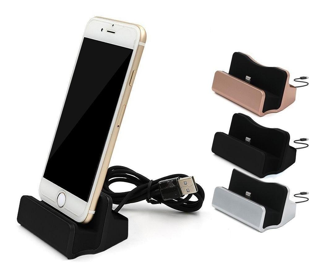 Base Dock Station Cargador iPhone 5 6 7 8 Plus X iPad iPod