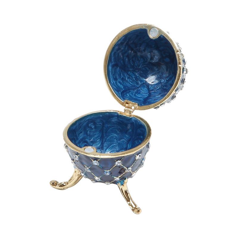 Porta Joia Oval Azul Em Zamac - Prestige 31027107