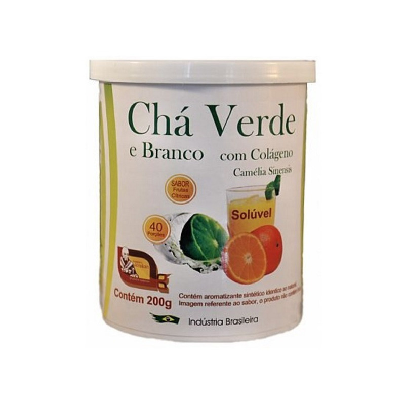 Cha Verde e Branco Colageno Citrus 200g Mosteiro Devakan