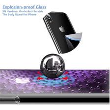 Funda Cafele Cristal iPhone 7 8 Plus X Xs Max Xr + Glass