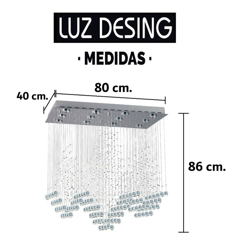 Colgante Diamond Cairel Moderno Con 12 Led Gu10 De Regalo