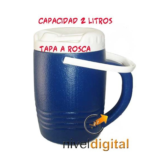 Botellon Bidon Termico Invicta Frio 2l Pico Vertedor Camping