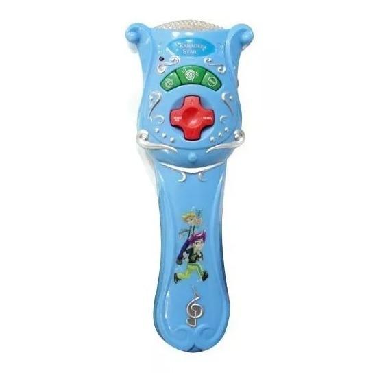 Microfono Celeste Nene Sonido Aplauso Karaoke Redoble
