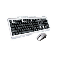 Kit Teclado Y Mouse Inalambrico Aluminio Nkb-steel Noga