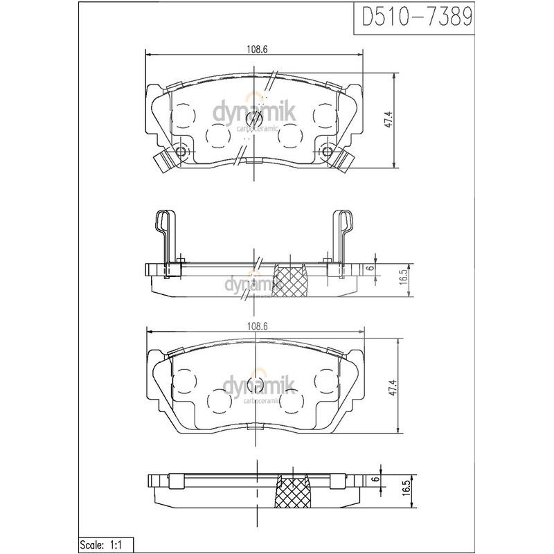 Balata Delantera Nissan:Nx,Sentra,Tsuru,Tsubame Dynamik S7389D510