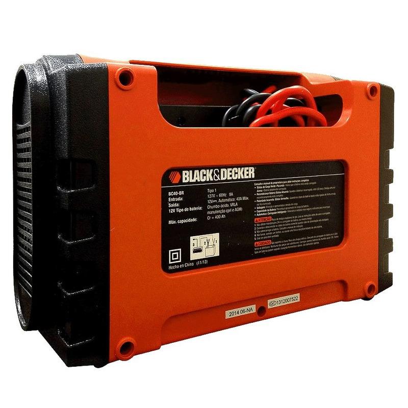 Carregador de Bateria Inteligente Portátil 12V - BC40 - Black&Decker - 110 Volts