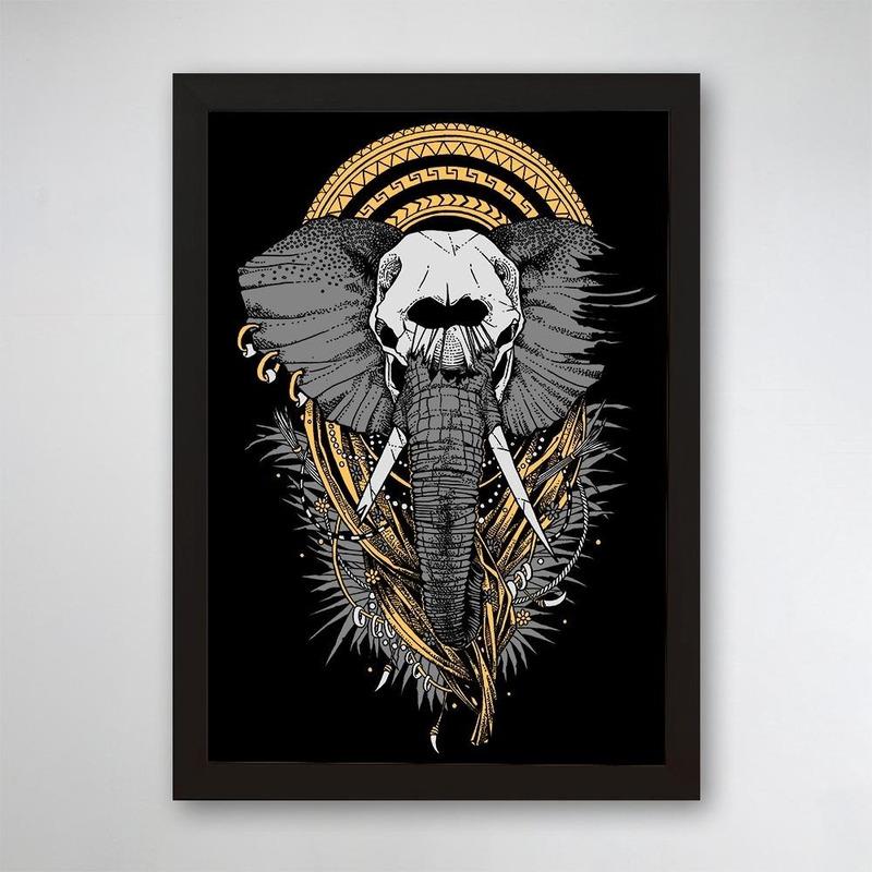 PÔSTER COM MOLDURA - ELEPHANT
