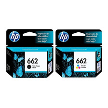 Combo Cartuchos Hp 662 Negro + Color Originales 2515 3515