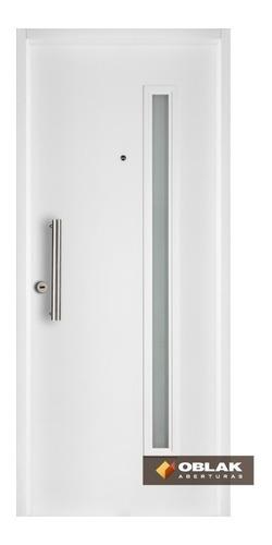 Puerta Exterior Blanca Oblak 2767 Optima 80 Acero Der Stock