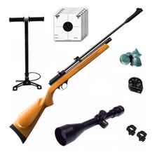 Rifle Aire Comprimido Fox Pcp + Inflador Fox + Mira 4x40