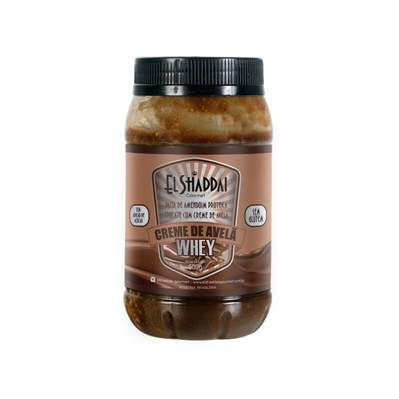Pasta de Amendoim c/ Creme de Avela e Whey 500g - El Shaddai