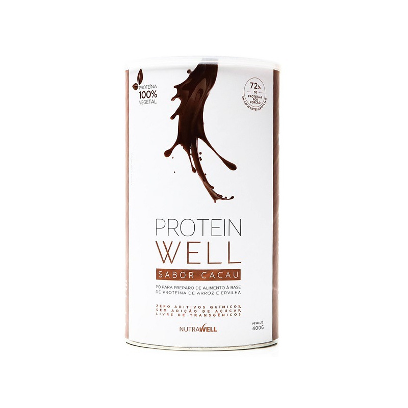 Protein Well Arroz e Ervilha 400g - Sabor Cacau - Nutrawell