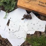 50 Etiquetas / Tags Plantables 8x5 cm - papel plantable con semillas (Sin Impresión)