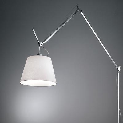 Lámpara De Pie Articulada Con Pantalla Mega Xl Apto Led Gmg
