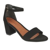 Sandalia tacón negra con pulsera  016147