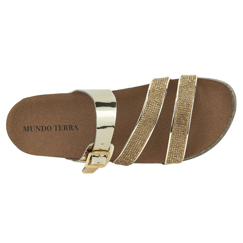 Sandalia De Piso Oro Con Piedras 020933