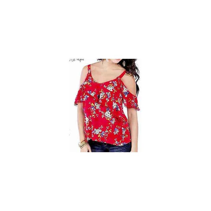 Blusa roja estampada 015173