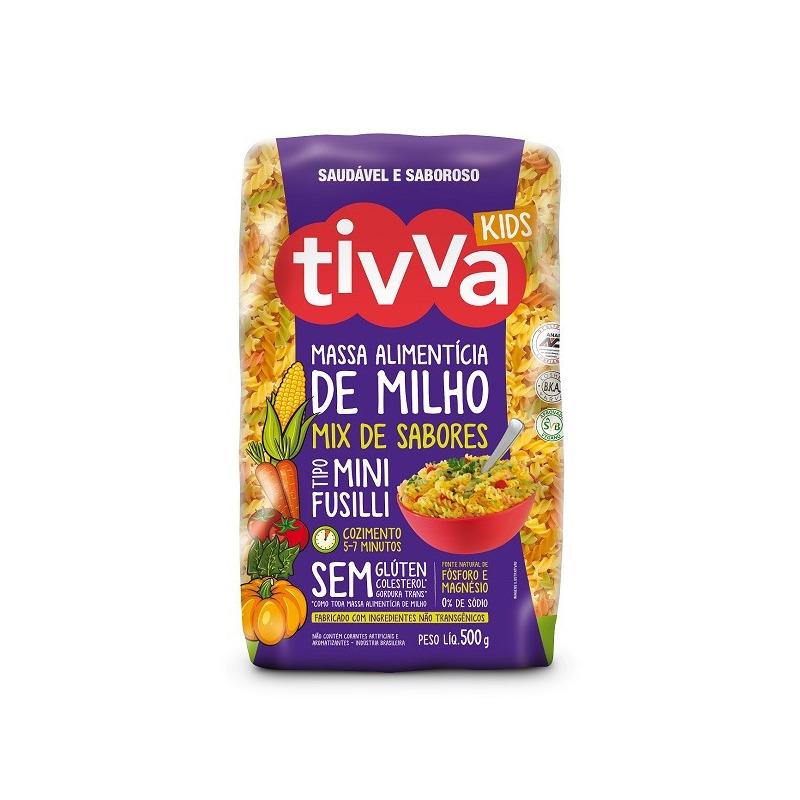 Macarrao Mini Fusilli (Parafuso) Tricolor - 500g Tivva Kids