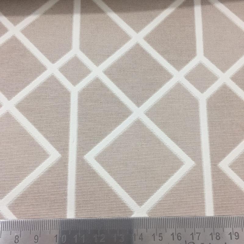 Tecido para parede geometric bege - impermeabilizado - Coleção Mônaco