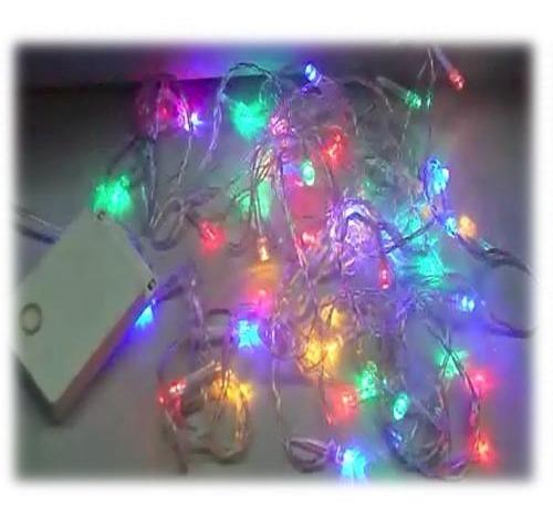 Luz Led X 50 Luces Multicolores Navidad En Caja Regalo