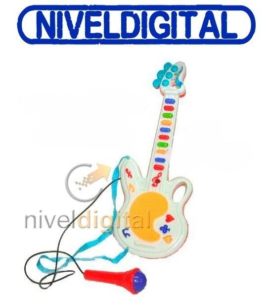 Guitarra Melodias Notas + Microfono Sonido Real Niño Oferta