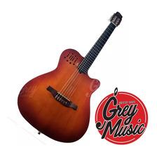 Guitarra Criolla C/mic Casas G4 Cedro Difuso Tipo Godin Acs