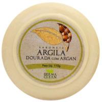 Sabonete Redondo Argila Dourada Argan - 110g - Dermaclean