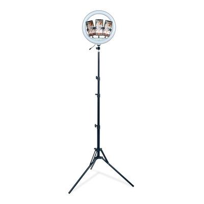 Lampara Aro Luz Led Tripode De Pie P-36 Bluetooth Selfie