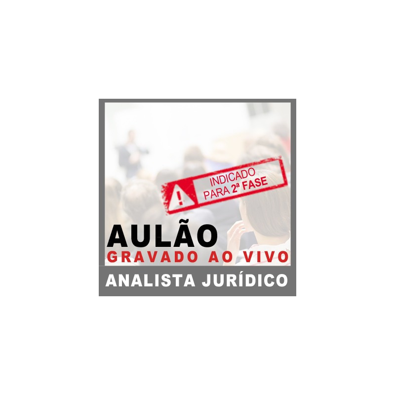 Aulão MP SP Analista Jurídico 2018 - D. Penal e Proc. Penal III