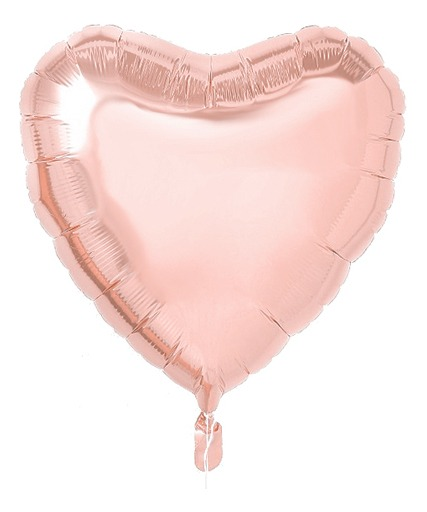 globo corazon rose gold 45 cms apto aire/helio sin inflar