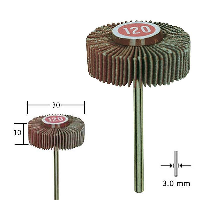 Disco de lixa em flap 30 x 10 mm - Proxxon - 28985
