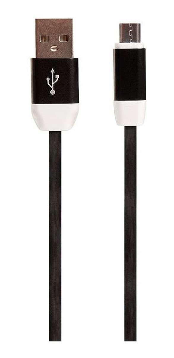 Cable De Datos Usb A Microusb Noga M2 Premium 2 Metros Plano