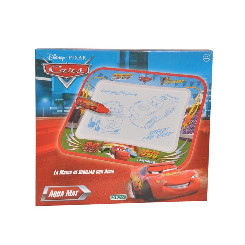 Pizarra Aqua Mat Cars Ditoys Original
