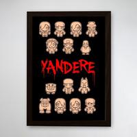 PÔSTER COM MOLDURA - YANDERE